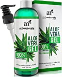 Art Naturals Aloe Vera Gel for Face, Hair & Body - Certified Organic, 100% Pure Natural & Cold Pressed 12 Oz - For Sun Burn, Eczema, Bug or Insect Bites, Dry Damaged Aging skin, Razor Bumps and Acne