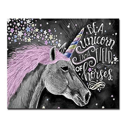 WACYDSD Puzzle 3D Puzzle 1000 Piezas DIY Mano Abstracta Caballo Animales Fotos Kits De Pared Unicornio Sala De Estar Decoración para El Hogar