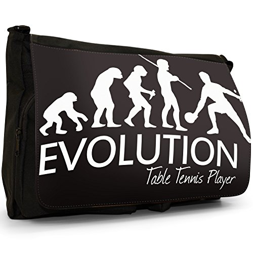 Fancy A Bag Borsa Messenger nero Evolution Of A Skier large Evolution Of A Table Tennis Player