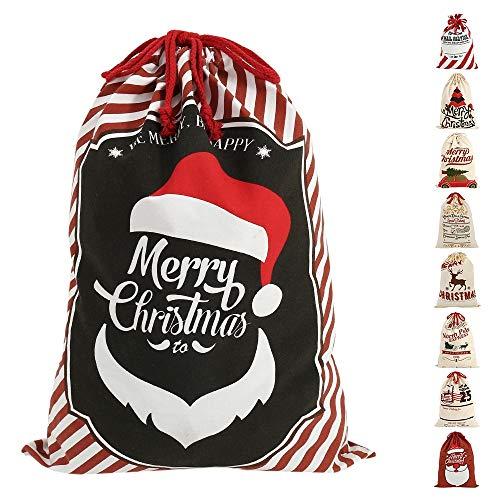 Judy1980 Saco de Navidad con diseño de Papá Noel