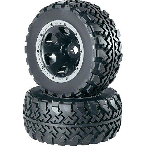 Reely 1:5Roue complète pour MonsterTruck avec jantes 6 rayons et profil de pneus Noir Profil Block (112181C