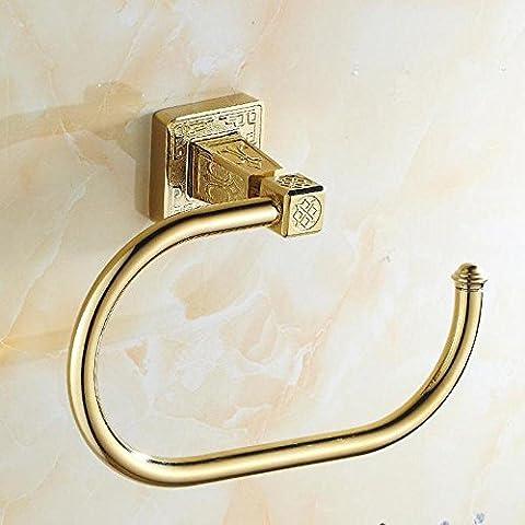 Accessori bagno oro rame placcato oro europeo