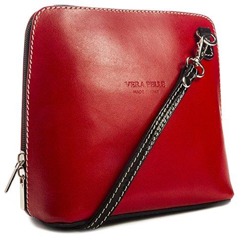 Big Handbag Shop, Borsa a tracolla donna One Red - Black