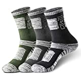Cotill 3 Pairs Hiking Walking Trekking Socks for Men and Women, Light Breathable