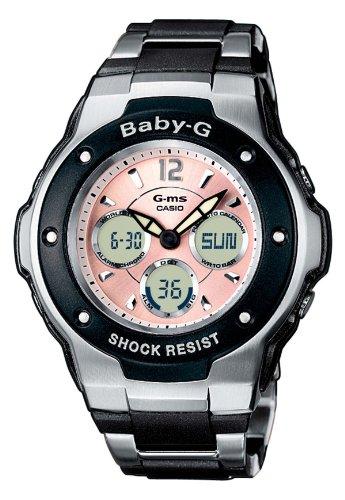 Casio MSG-300C-1BER – Reloj analógico – digital de mujer de cuarzo con correa de acero inoxidable multicolor (cronómetro, alarma, luz) – sumergible a 100 metros