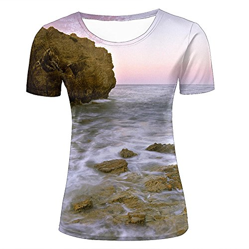 WEIYI BO Men T-Shirt 3D Digital Pinted Del marcalifornia Sea Crewneck Casual Tee Shirt Tops D