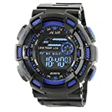 Best Digital Wristwatches - Time Warp Shredded Blue Multi Function Digital Chameleon Review
