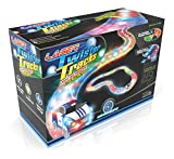 Mindscope LED Twister Tracks 12 Feet of Light Up Flexible Track + 1 Light Up Race Car Each Individual Track Piece Contains Lights (Transparent Color System)