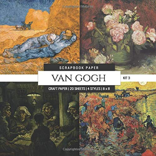 Van Gogh Scrapbook Paper Kit 3: 8x8 Decorative Craft Paper, Designer Specialty Paper for Scrapbooking, Roses, Floral, Scenic Landscape, Vintage Themed Background Papers (Multi-Purpose Paper, Band 10) -