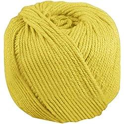 170 m x 4 mm cuerda de algodón para arte macramé amarilla