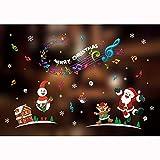 ODJOY-FAN Weihnachten Fensteraufkleber Glasaufkleber Fenster Wandaufkleber Mauer Kunst Entfernbar Zuhause Fenster Mauer Aufkleber Abziehbild Party Dekor (80X60cm) (B,1 PC)