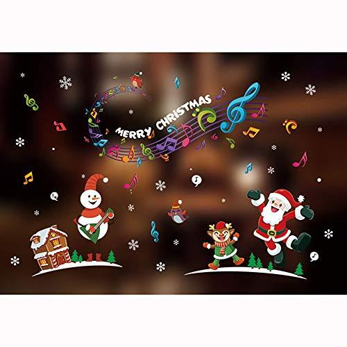 LILICAT Joyeux Noël Wall Art Amovible Home Window Stickers Muraux Decal Party Decor Décoration de La Maison Nouvelle Fenêtre De Noël Autocollant Verre Autocollant