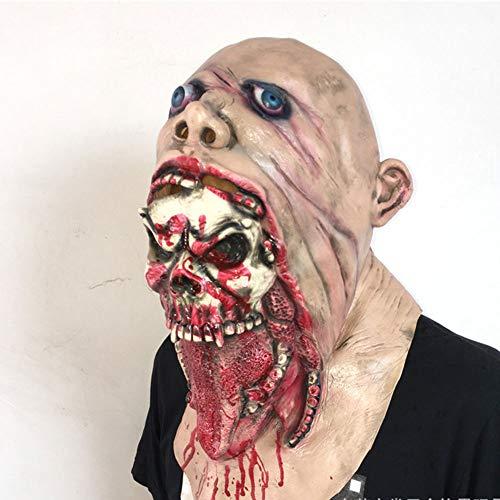 Kostüm Verdorben - Edelehu Abscheulich Verdorben Blutigen Toten Zombie Halloween Maske Scary Gruselig Horror Cosplay Kostüm Bandana Latex Scary Kopf Zombie Maske