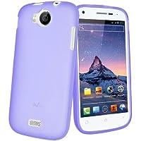 Mocca Design Gel Frost Housse en silicone pour Wiko Cink Peax Violet