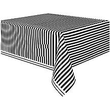 Partydeko Punktedesign Party-Tischdecke in schwarz und weiss