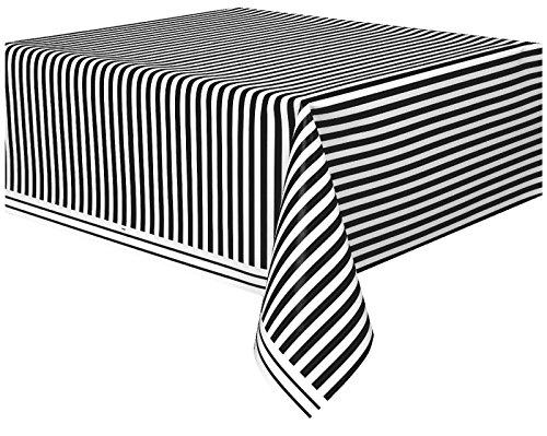 Unique Party Supplies Kunststoff-Tischdecke, gestreift, 2,7 m x 1,37 m