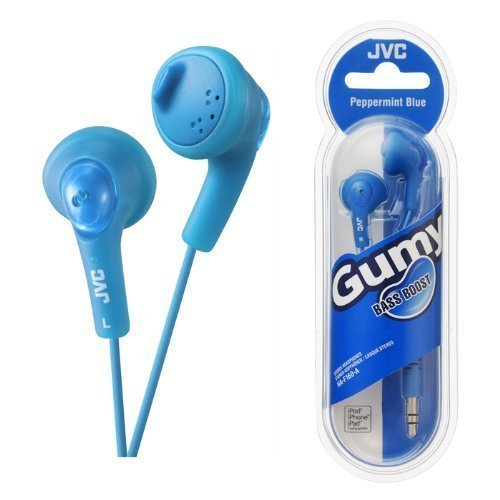 UKDapper JVC HAF160 Blue Gumy Bass Boost Stereo Headphones for iPod, iPhone, MP3 and Smartphone by JVC