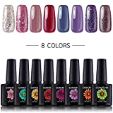 Coscelia Gel Nagellack Set Soak Off UV LED Nagellack Maniküre Set 8 Farben gellack Geschenk Set