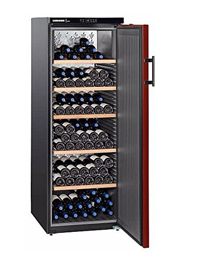 Liebherr WKr 4211 Freestanding Black 200bottle(s) A+ wine cooler - Wine Coolers (Freestanding, Black, Stainless steel, 5 shelves, 1 door(s), Steel)