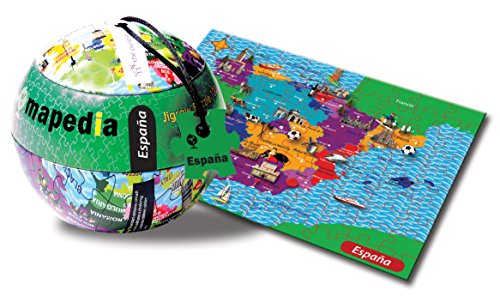 The Purple Cow 36872 - Mapedia Deutschland Puzzle - 100-Teilig, 25 x 35 cm