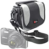 DURAGADGET Portable Camera Case For NEW Nikon CoolPix S700 / P610 / L840 / AW130 / S33 - With Padded Interior, Multiple Pockets And Shoulder Strap