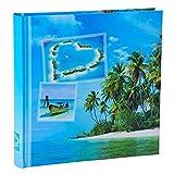 WELLGRO® Jumbo Fotoalbum BEACHES - für bis zu 400 Fotos 10x15 - 30 x 30 cm (HxB) - 100 Seiten , Motive:Insel