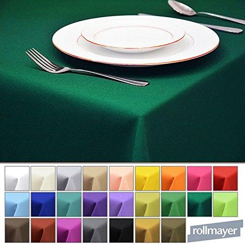(Rollmayer Tischdecke Tischtuch Tischläufer Tischwäsche Gastronomie Kollektion Vivid (Smaragdgrün 46, 140x300cm) Uni einfarbig pflegeleicht waschbar 40 Farben)