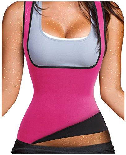 Hot Thermo Schweiß Neopren Shapers Slimming Gürtel Taillenmieder Girdle für Gewicht Loss (X-Large, Rosa)