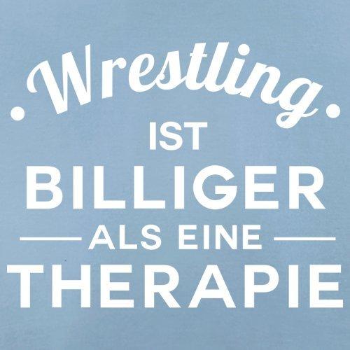 Wrestling ist billiger als eine Therapie - Herren T-Shirt - 13 Farben Himmelblau