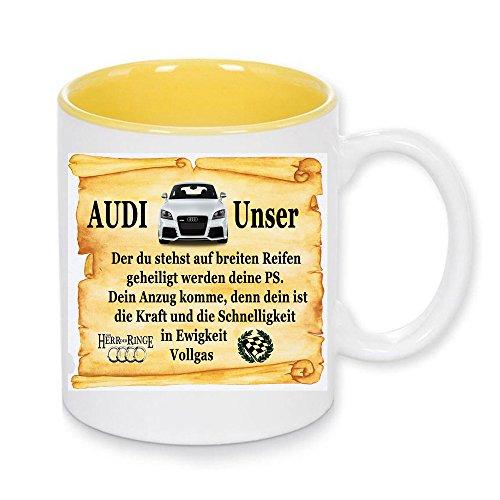 Handmade by GmH Kaffeebecher Audi Fan Gebet - rundum Bedruckt