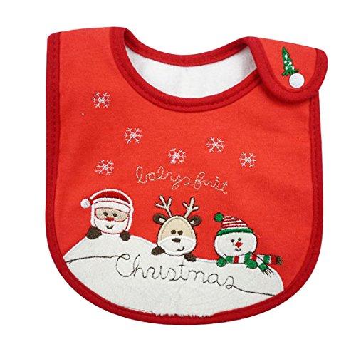 Scrox 1 Stück Weihnachten Lätzchen Infant Toddler Baby Waterproof Saliva Towel Baby Cotton Bibs Baby Lätzchen für 0-4 Jahre alt Baby Baby Infant Toddler Bib