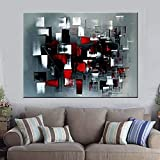 XIAOXINYUAN 100% Handgemalt Grau Rot Abstrakt Öl Malerei Wand Kunst Bilder Für Wohnzimmer Home Decor 60×90Cm