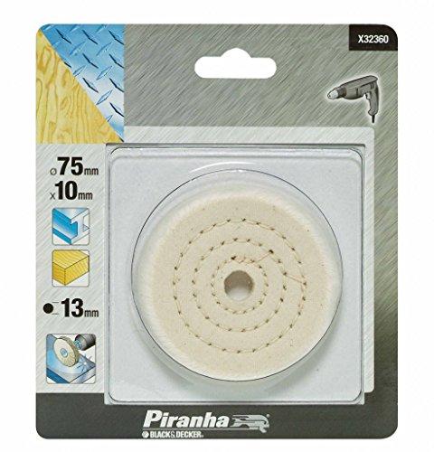 Preisvergleich Produktbild Piranha Baumwolle Polieren Rad für Metall und Marmor 75mm Tiefe, 13mm Bohrung Größe (528487)