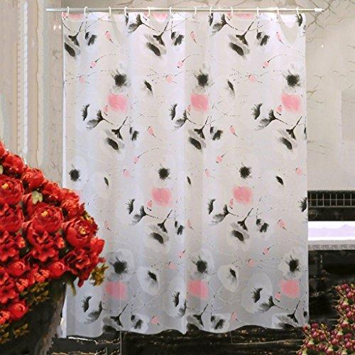Rideaux de douche PEVA Matériel Rideau de douche imperméable à l'eau plus épaisse salle de bain coupé de tissu Hanging pratique Spécifications multiples Durable ( taille : 180×180CM )