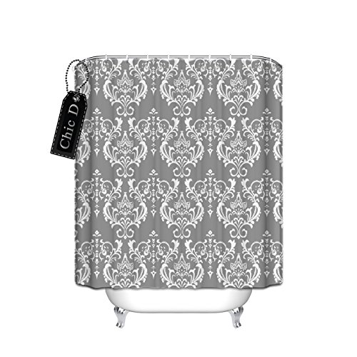 für die Dusche (Fleur de Lis Thema), Polyester, multi, 48 x 72 ()