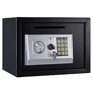 16L groß 250* 350* 250Home Safe Spardose Schwarz/Digital Wand montiert Sicher, Schlüssel Fall Box mit Code/Persönlichen Stahl Sicherheit Sicher Fall für Haus/Büro/Zuhause