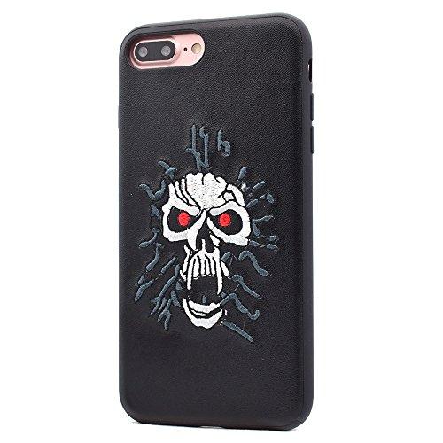 Hülle für iPhone 7 plus , Schutzhülle Für iPhone 7 Plus PU-Leder-Farbe Schädel-Muster-Magnet-Stickerei-schützende rückseitige Abdeckungs-Fall ,hülle für iPhone 7 plus , case for iphone 7 plus ( SKU :  Ip7p4516f