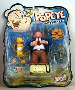 Popeye - Gontran Figurine - avec Jeep, Hamburgers et hachoir à viande