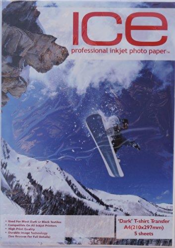 5x Ice T-Shirt Transfer Papier–Dark