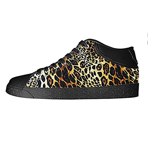 Custom Leoparden print Men's Canvas shoes Schuhe Lace-up High-top Sneakers Segeltuchschuhe Leinwand-Schuh-Turnschuhe
