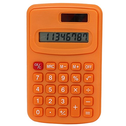 sourcingmap® Bureau écran LCD Portable Petit Poche Calculatrice Électronique Orange