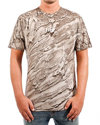 Rose Tie Dye T-shirt (HUF Herren T-Shirts Ambush Tie Dye Rose Tt S/S Tee TS00298-SAND braun S)