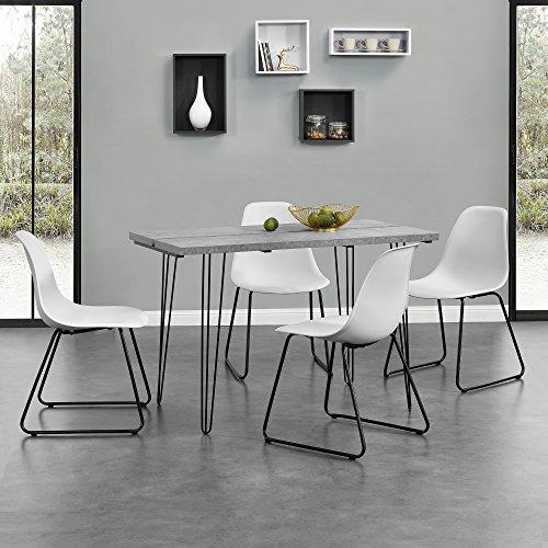 en.casa]® Tavolo da pranzo design per 4 persone con 4 sedie ...
