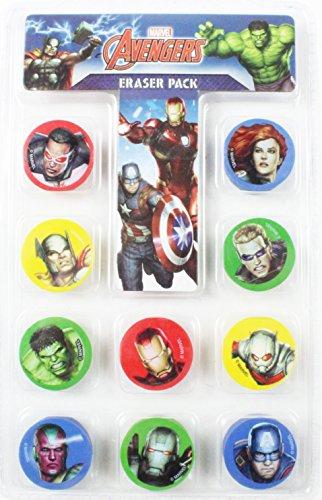 Figur Film Verkleiden (Avengers Radiergummi 10Pack Set Marvel Comic Superheros Kinder Jungen Schule)