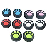 Zhhlaixing 5 Pairs Cute Cat Paw Replacement Thicken Silicone Analog Controller Joystick Thumb Stick Grips Cap Cover For Nintend Switch NS Controller