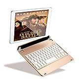 iEGrow iPad Pro 9.7 Tastatur, F17 Kabellos Bluetooth Tastatur mit Ständer für iPad Air/Air 2 Gold