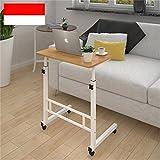 KXBYMX Einfacher Klapptisch Praktisches Bett Handy Tischlift Faule Computertisch Familientabelle mit Rolltisch (Farbe : B)