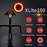 USB Ricaricabile Bicicletta Coda Luce, GUIDATO Bicicletta Bicicletta Posteriore Luce Automatico Fanale posteriore,Freno Induzione,IPX6 impermeabile,Rosso alta intensità GUIDATO Bicicletta luce