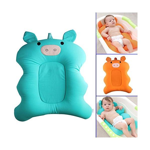 Starmood Baby Bath Tub Pillow Pad Air Cushion Mat Floating Soft Seat for Infant Newborn 2