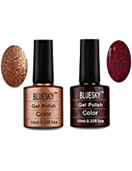 Bluesky UV/LED Gel Nail Polish, Chritmas Duo Tinsel Toast and Ruby Ritz